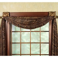 Scarf Valance Window Treatments With Rosettes Bing