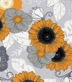Keepsake Calico™ Cotton Fabric-Sunshine Large Yellow Flower