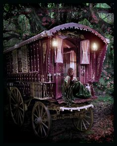 gypsy wagon...i have always wanted one of these.  i would put it in my backyard and it would be my happy place!