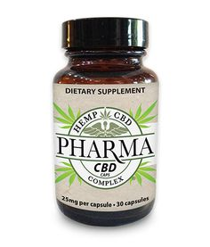 25 MG (30 COUNT) - CBD Nutritional Supplement Capsules - $169.00  -  Active lifestyle have you constantly on the go? Then Pharma CBD Pills are the perfect fit for your busy schedule. Each vegan capsule contains naturally grown CBD-rich hemp oil made from Non-GMO hemp, where no pesticides, herbicides or chemical fertilizers were used.