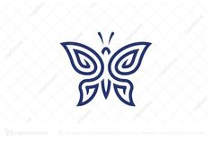 Logo for sale: Butterfly Logo by Frankie Soo, uploaded on Butterfly logo designed in the manner of dynamic line art, it is suitable for companies or businesses – in relation to tattoo or body art. Henna Butterfly, Butterfly Logo, Logo Inspiration, Icon Tattoo, Tattoo Templates, Unique Symbols, Elegant Logo, Symbol Design, Beauty Logo