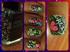 Graffiti nail art. :-) Graffiti Nails, Small Canvas, Art Forms, My Nails, Beauty Tips, Nail Designs, Nail Art, Nail Desings, Nail Arts