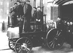 British firemen and fire engine 1902 Back Church Lane, London