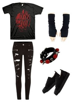 """""""Untitled #1"""" by nataliagaino3 on Polyvore featuring River Island and Christian Louboutin"""