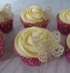 Today's bake. Buttercream rose cupcakes
