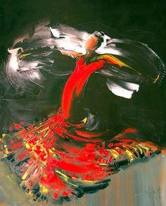 Daniel Densborn, 1946   Flamenco dancers   Tutt'Art@   Pittura • Scultura • Poesia • Musica