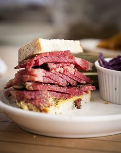 Smoked meat sandwhich