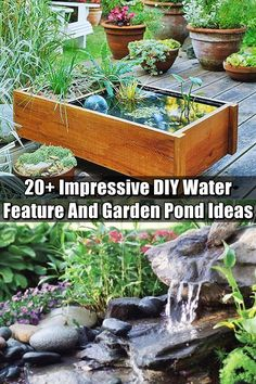 20+ Impressive DIY Water Feature And Garden Pond Ideas - There is something awesome about having a water feature in any sized garden. I love this sound water makes and because this collection is so vast, I think you will find the perfect one for you.