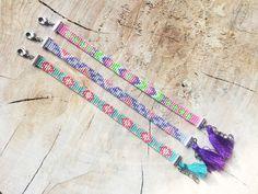 Bead Loom Bracelet Miyuki Delica Bracelet by TheBohoMinimalist Thread Bracelets, Bead Loom Bracelets, Jewelry Bracelets, Jewelery, Loom Patterns, Beading Patterns, Motifs Aztèques, Bracelet Fil, Loom Beading
