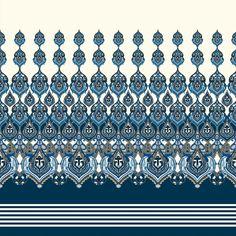 Boarder Designs, Border Embroidery Designs, Textile Pattern Design, Art Deco Pattern, Spider Art, Paisley Art, Islamic Art Pattern, Border Pattern, Lace Border