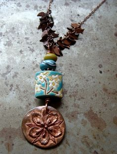 Copper Garden Pendant Necklace | Humblebeads Jewelry
