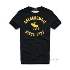 Abercrombie & Fitch Since 1892 Miehet Lyhyt T-Paidat Musta Keltainen Tartu toimeen ostaa halpaa Abercrombie & Fitch paidat suuri alennus ja erinomainen laatu, ilmainen postitus. http://www.hollistervipshop.com/