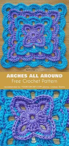 Transcendent Crochet a Solid Granny Square Ideas. Inconceivable Crochet a Solid Granny Square Ideas. Crochet Motifs, Crochet Blocks, Granny Square Crochet Pattern, Crochet Stitches Patterns, Crochet Squares, Knitting Patterns, Afghan Patterns, Free Crochet Square, Crochet Borders