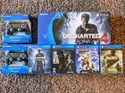 PlayStation 4 500GB Uncharted 4 Bundle with games & controllers. MINT Condition!