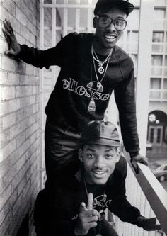 Rapper Will Smith (The Fresh Prince) and  Jeff Townes (DJ Jazzy Jeff) - 'The Fresh Prince of Bel-Air'.