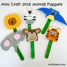 craft stick animal puppets are super cute! These craft stick animal puppets are super cute and easy to make! Use them for everyday pretend play or in dramatic centers! Animal Crafts For Kids, Crafts For Kids To Make, Crafts For Teens, Animals For Kids, Art For Kids, Popsicle Stick Crafts, Popsicle Sticks, Craft Stick Crafts, Craft Sticks