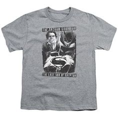 Guardian V Son Athletic Heather Kids T-Shirt Batman V Superman Dawn of Justice