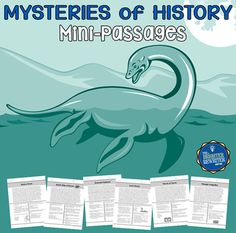 Build comprehension using these 6 nonfiction short passages about famous unexplained or unsolved historical mysteries, each featuring informational text and 4 multiple-choice questions on one page. Paragraph topics include the Belmez Faces, the Bermuda Triangle, the Dancing Plague, the Green Children, the Loch Ness Monster, and the SS Ourang Medan.
