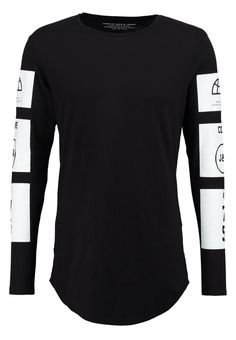 Jack & Jones - JJCONULL SLIM FIT - Langarmshirt - black