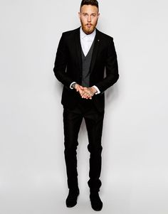 ASOS Slim Suit In Black