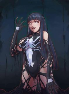 Oh God I L❤VE this. turns out I already saved it 😅. The perfect symbiotic pairing😅 [Venom Hinata by LeeBigTree] Anime Naruto, Thicc Anime, Naruto Girls, Naruto Art, Anime Girls, Marvel Girls, Comics Girls, Marvel Art, Marvel Comics