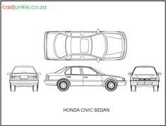 2D Vehicles: Honda Civic Sedan CAD Format: AutoCAD 2013  Block Type: 4x2D Block  Units: mm Honda Civic Sedan, Cad Blocks, Autocad, 2d, Type, Vehicles, Car, Vehicle, Tools