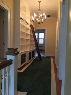 BEFORE upstairs hallway and bookcase
