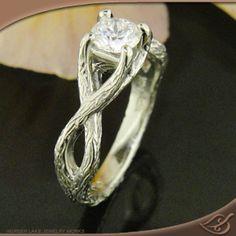the rocky mountain - Deer Antler Wedding Rings