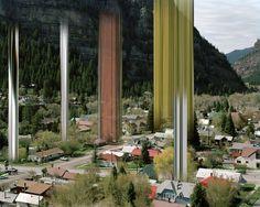 ralf brueck distorts architecture and nature into sci-fi scenarios