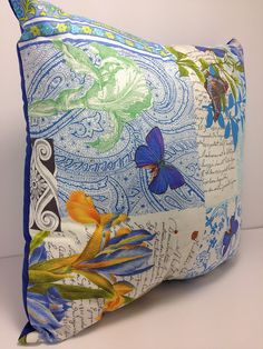 """Group One Home® designs and Handcrafts each pillow with Quality and uniqueness in mind.  Group One Home® specializes in Novelty & """"Man-Cave"""" pillows.  Each pillow is pre-fi... #etsy #handmade #dogs #mothersday #fathersday #gifts #doglovers #noveltypillows #mancave #botanical #insects #butterfly #blue"""