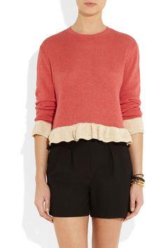 Miu Miu|Cotton sweater|NET-A-PORTER.COM