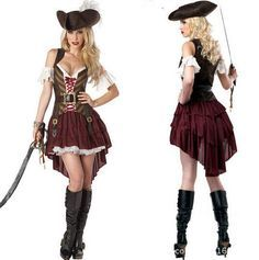 Women Pirates of the Caribbean costumes female pirate cosplay women's halloween costume CO92263281