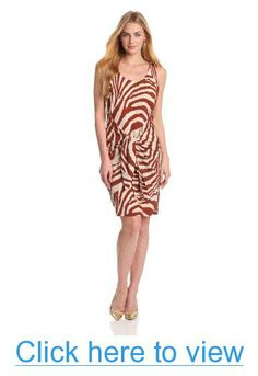 Anne Klein Women's Animal Stripe Sarong Dress #Anne #Klein #Womens #Animal #Stripe #Sarong #Dress