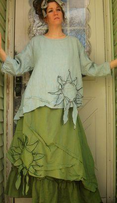 Sunflower Shirt. $139.00, via Etsy. I like the way the sunflower is done