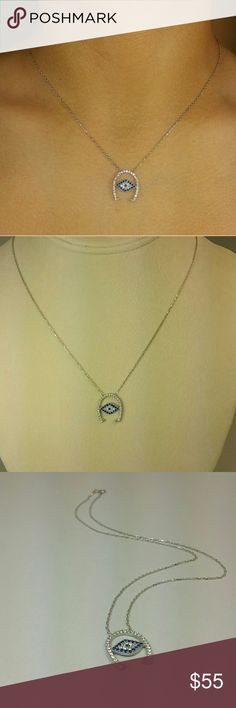 ".925 Evil Eye Necklace Brand new, .925 Evil Eye Necklace with CZ. 16 1/2"" long. Imported directly from Istanbul Turkey for my boutique. Anatolia Designs Jewelry Necklaces"