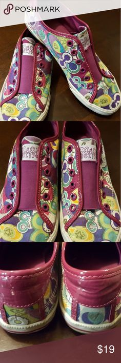 Coach Poppy Shoes Coach Poppy Shoes, Good Condition, Super Cute! Coach Shoes Sneakers