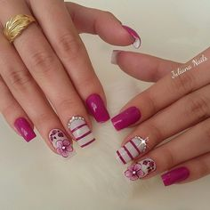 39 - We continue to offer 2019 nail designs to your appreciation - 1 Races continue in nail designs and creativity. French Nail Designs, New Nail Designs, Simple Nail Designs, Winter Nails, Spring Nails, Summer Nails, Cute Nails, Pretty Nails, Hair And Nails