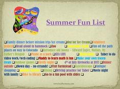 Create a Summer Bucket List - fun activities to do with kids and family this year! Summer Fun List, Summer Bucket Lists, Fun Activities To Do, Hands On Activities, My Fathers Dragon, Driving Practice, Fun Bucket, Do Video, Gambling Quotes