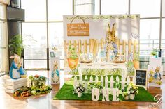 Velma P's Birthday / Vintage Peter Rabbit - Photo Gallery at Catch My Party First Birthday Decorations, Girl Birthday Themes, Birthday Table, 1st Birthday Parties, Birthday Ideas, Peter Rabbit Cake, Peter Rabbit Birthday, Peter Rabbit Party, Bunny Birthday