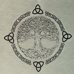 What They Mean - Celtic Tree of Life -Tattoo Symbols and What They Mean - Celtic Tree of Life - tree of life, YggdrasilViking tree of life, Yggdrasil Tree Tattoo - I like this one the most, but would add some shading. Tatoo Tree, Celtic Tree Tattoos, Viking Tattoos, Celtic Tattoos For Men, Yggdrasil Tattoo, Norse Tattoo, Tattoo Symbols, Neue Tattoos, Body Art Tattoos