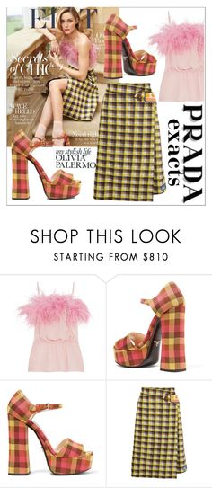"""""""Olivia Palermo exacts"""" by lovedreamfashion ❤ liked on Polyvore featuring Prada, GetTheLook, OliviaPalermo and exacts"""