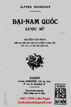 Đại Nam Quốc Lược Sử (NXB Sài Gòn 1907) - Alfred Schreiner, 484 Trang | Sách Việt Nam