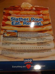 The IHOP all you can eat deal is back.  Apparently.