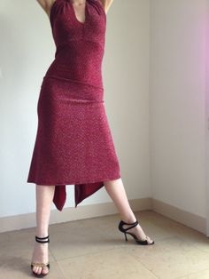 Fabulous red tango dress red and glitter by BellaTango on Etsy, €120.00