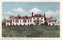 Dawson Memorial Hospital Bridgewater Nova Scotia Canada 1940s Peco Postcard | eBay