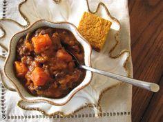 Pumpkin, Sweet Potato, & Black Bean Chili