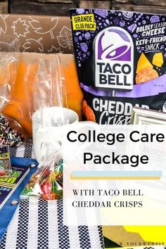 Preparing a care package for a college student studying out of state? Be sure to add @tacobell Cheddar Crisps! Grab the details inside. #ad #TacoBellatSamsClub Snack Recipes, Cooking Recipes, College Meals, Best Blogs, Homemade Beauty Products, Cheddar, Helpful Hints, Crisp, Tacos