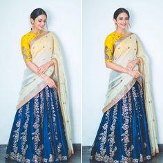 Rakul Preet looks beautiful in  Jayanti reddy label    Amrapalijewels for  Rarandoi Veduka Chudam promotions .Rangdephotography  23 May 2017