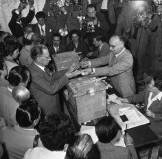 Alcide de Gasperi Voting Roma 1953 #TuscanyAgriturismoGiratola