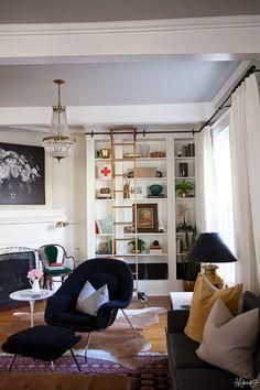 The Makerista: Laura's Living Room: Ikea Billy Bookshelves Hack